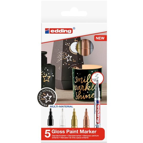 Marqueurs Peinture Edding 753 Pointe Calligraphie - Métallique - 5 pcs - Photo n°1