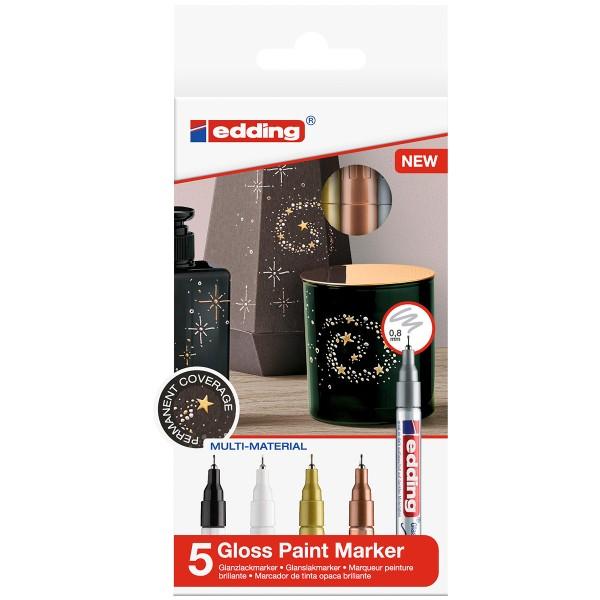 Marqueurs Peinture Edding 780 Pointe Extra-fine - Métallique - 5 pcs - Photo n°1