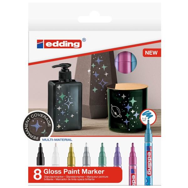 Marqueurs Peinture Edding 751 Pointe Fine - Métallique - 8 pcs - Photo n°1