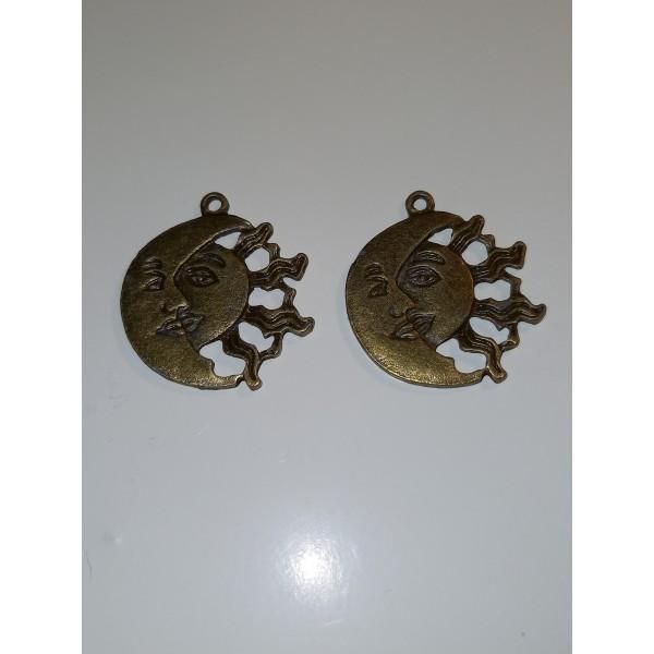 Quand les lunes rejoignent les soleils, médailles ou breloques, en bronze, 2.5 mm - Photo n°1