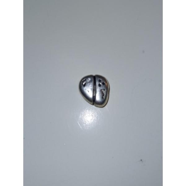 Un coeur moderne pour vous aimer, breloque, perle, 1 cm - Photo n°1