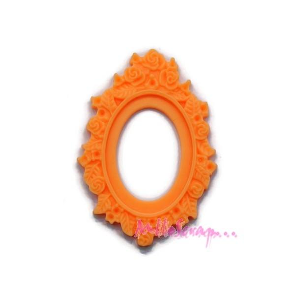 Cabochons cadres résine orange clair - 2 pièces - Photo n°1