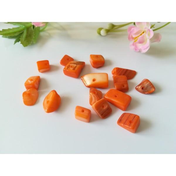 Perles chips orange x 30 gr (environ 30 perles) - Photo n°1