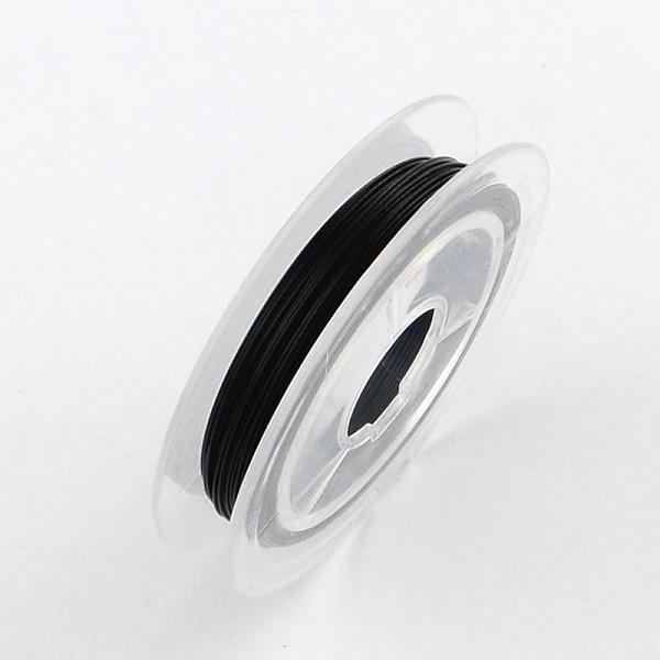 Fil acier câblé 0.38 mm noir x 10 m - Photo n°1