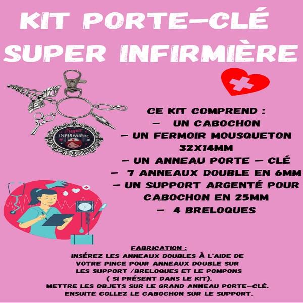 Porte-Clé Super Infirmière Kit - Photo n°1