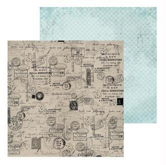 Feuille scrapbooking Provincial - Kaiser Craft - 30,5 x 30,5 cm