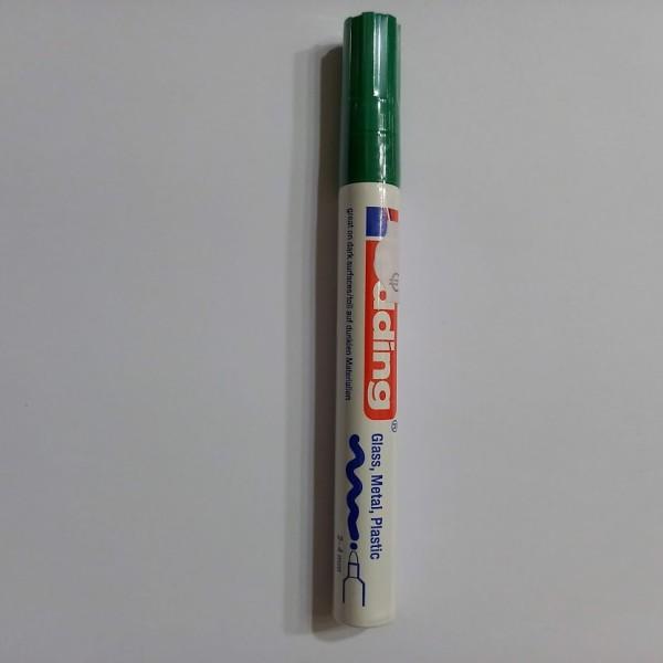 Feutre de peinture à l'huile vert, pointe medium, 1.8-2.2mm - Photo n°1
