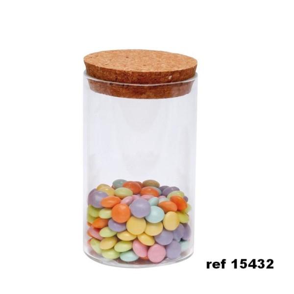 Mini bocal forme eprouvette avec bouchon liège - Photo n°2