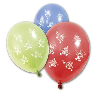 Ballon anniversaire Clown x8 coloris assortis