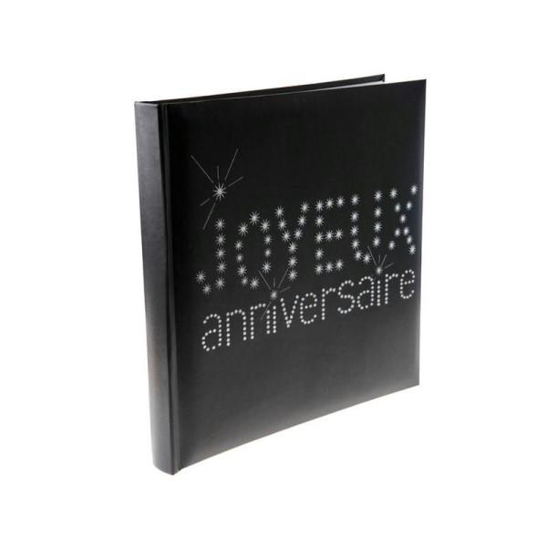 Livre d or noir Joyeux Anniversaire - Photo n°1
