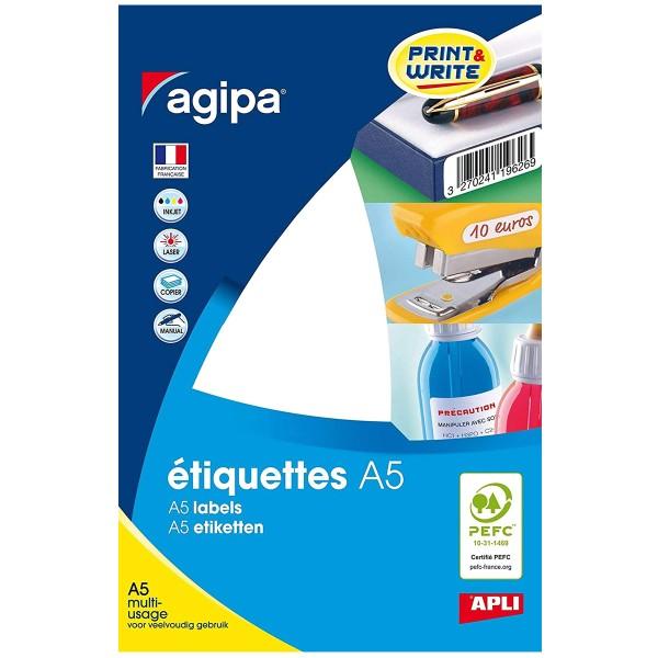 Etiquettes adhésives - Blanc - 3 x 1,1 cm - 1088 pcs - Photo n°1