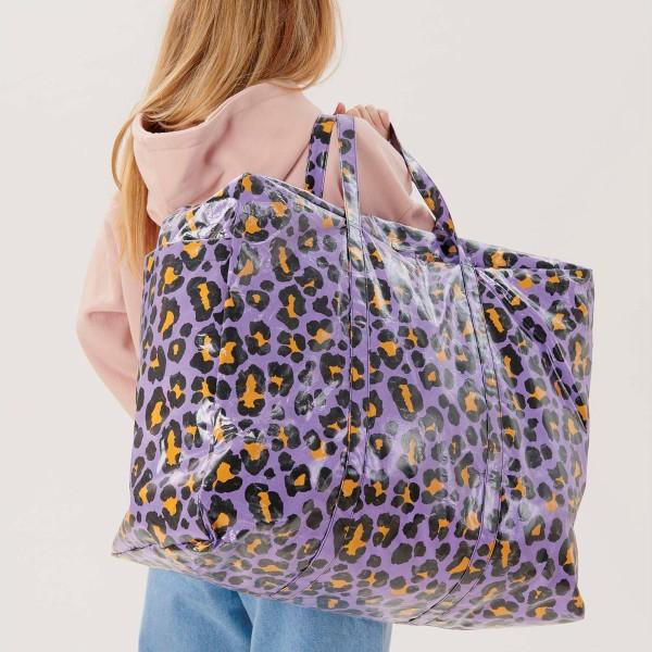 Toile cirée en coton Rico Design - Motif Léopard Violet - Vendu par 10 cm - Photo n°3