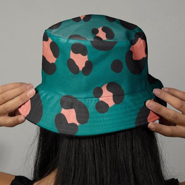 Tissu cretonne Rico Design - Motif Léopard Vert Canard - Vendu par 10 cm - Photo n°2