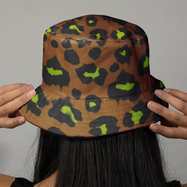 Tissu cretonne Rico Design - Motif Léopard Moutarde - Vendu par 10 cm - Photo n°2
