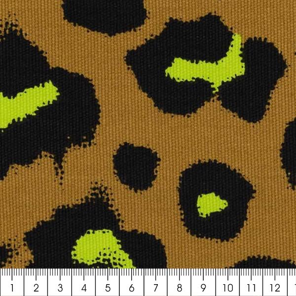 Tissu cretonne Rico Design - Motif Léopard Moutarde - Vendu par 10 cm - Photo n°3