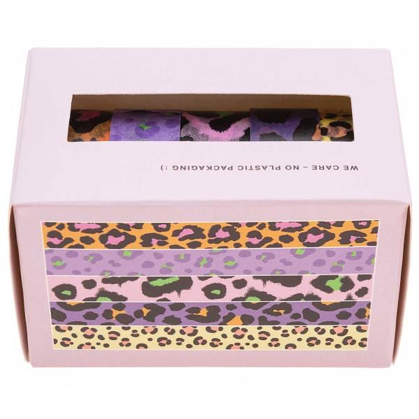 Set de masking tape Rico Design - Léopard Fluo - 1,5 cm x 10 - 5 pcs - Photo n°2