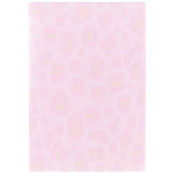 Bloc-notes papier - 14,8 x 21 cm - Léopard rose irisé - 50 pages - Photo n°2