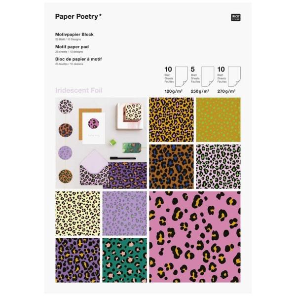 Bloc Papier Scrap A4 - Acid Leo - 25 feuilles - Photo n°1