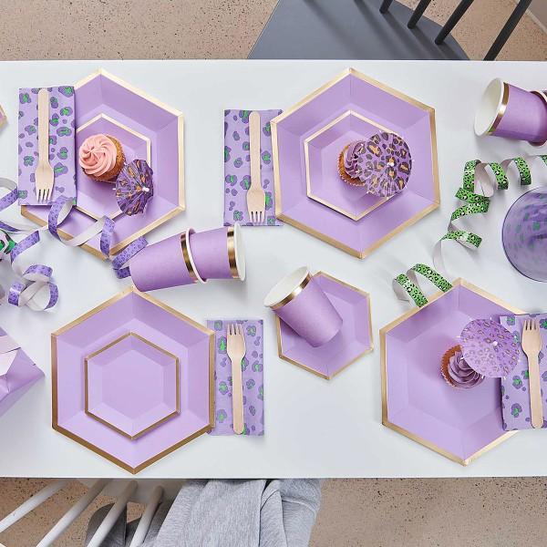 Serviettes en papier - Motif Léopard Violet - 33 x 33 cm - 20 pcs - Photo n°4
