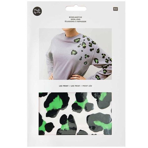 Motifs thermocollants Rico Design - Motif Léopard Vert - 20 pcs - Photo n°1
