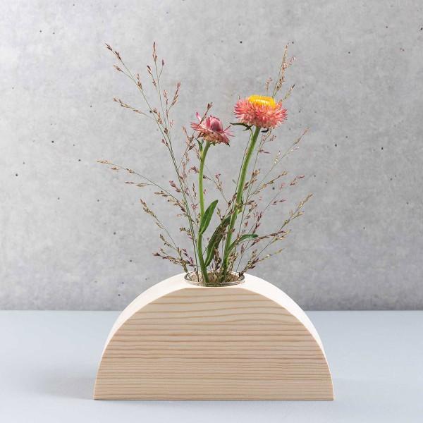 Demi- cercle en bois support vase - Grand Modèle - 18 x 9 x 5 cm - Photo n°3