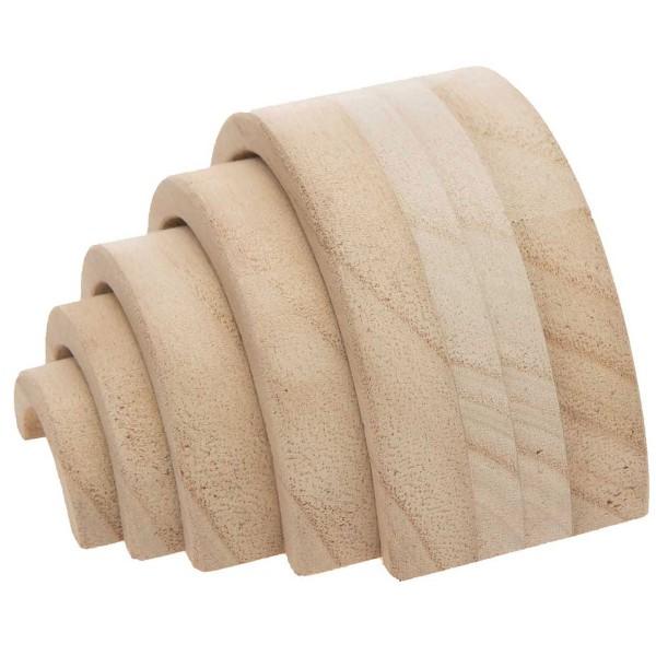 Arc-en-ciel en bois à décorer - Petit modèle - 12 x 6 x 5 cm - Photo n°3