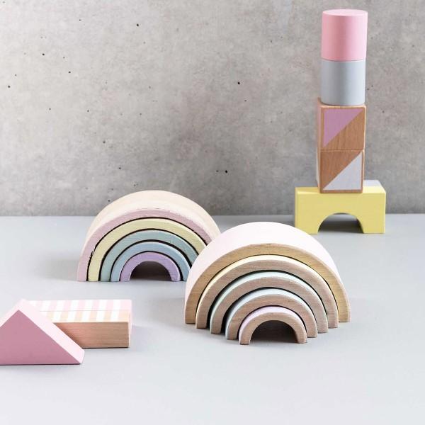Arc-en-ciel en bois à décorer - Petit modèle - 12 x 6 x 5 cm - Photo n°4