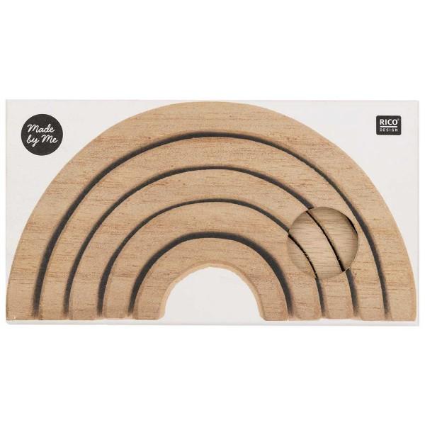Arc-en-ciel en bois à décorer - Petit modèle - 12 x 6 x 5 cm - Photo n°5