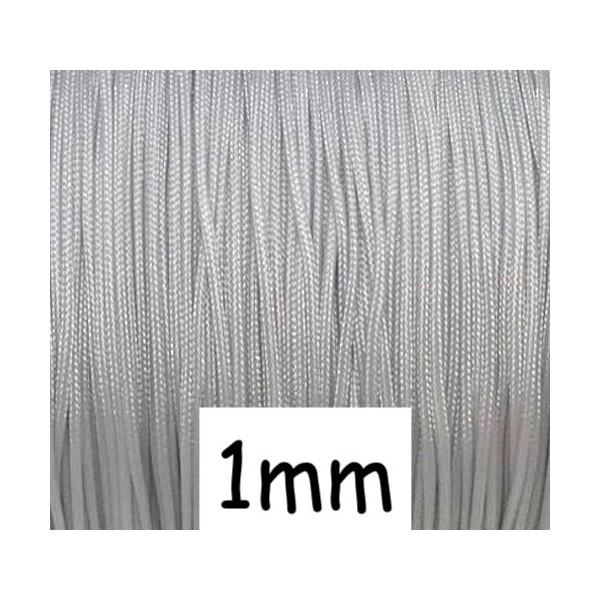 10m Fil De Jade 1mm Gris Clair - Idéal Noeud Coulissant - Wrap - Shamballa - Photo n°1