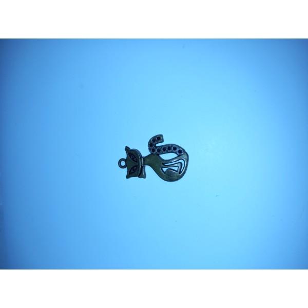 Breloque ,1 chat haut sur pattes en bronze , , 2,5 cm - Photo n°1