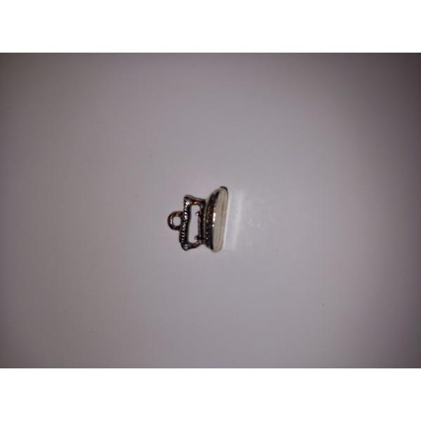 Breloque 1 fer à repasser pour les chemises en métal blanc 1,5 cm - Photo n°1