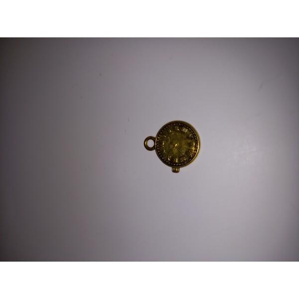 Breloque 1  montre en bronze à heure fixe 1,5 cm - Photo n°1