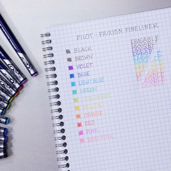 Stylo Feutre Pilot - FriXion Fineliner - Plusieurs coloris disponibles - Photo n°6