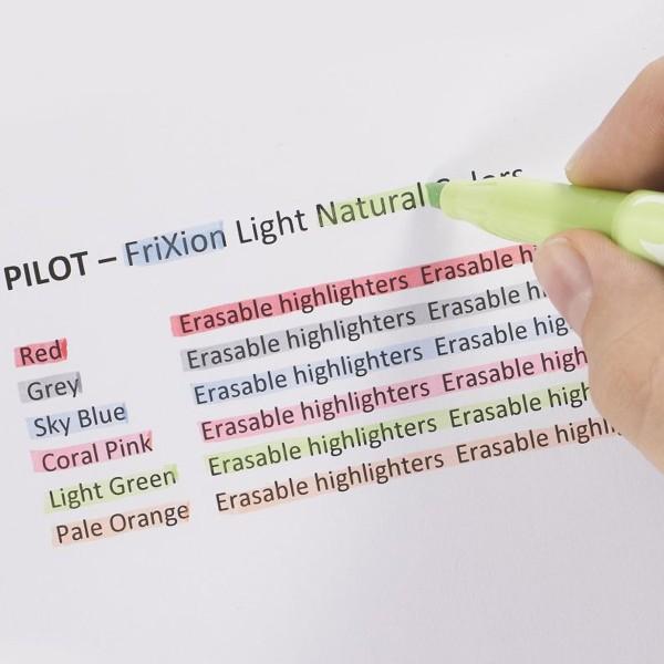 Surligneur effaçable Pilot - FriXion Light Soft Natural - Plusieurs coloris disponibles - Photo n°3