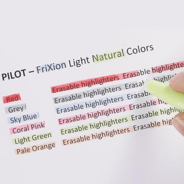 Surligneur effaçable Pilot - FriXion Light Soft Natural - Plusieurs coloris disponibles - Photo n°4