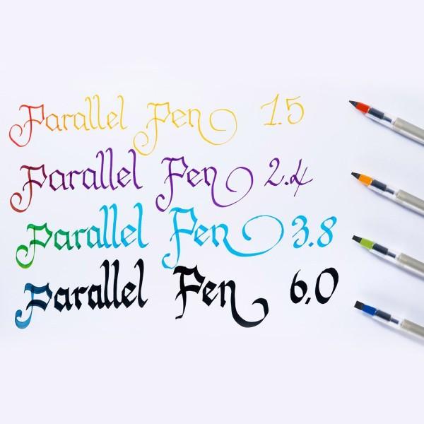 Stylo Plume pour Calligraphie - Parallel Pen Pilot - Orange - 2,4 mm - Photo n°3