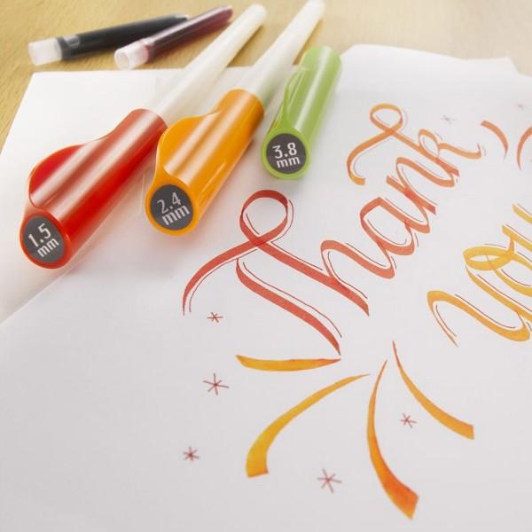 Stylo Plume pour Calligraphie - Parallel Pen Pilot - Orange - 2,4 mm - Photo n°5