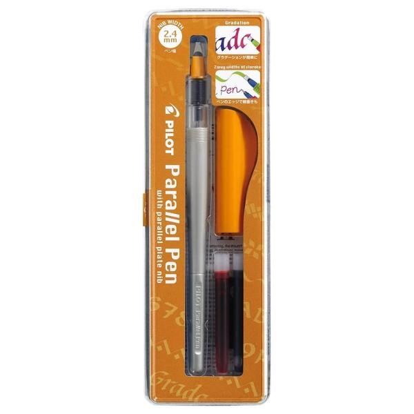 Stylo Plume pour Calligraphie - Parallel Pen Pilot - Orange - 2,4 mm - Photo n°1
