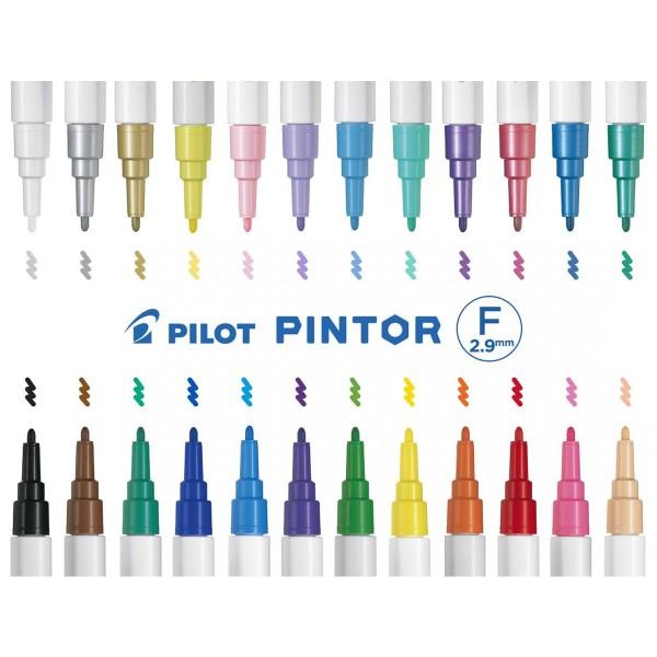 Feutre Peinture Pintor de Pilot - Pointe Fine - Plusieurs coloris disponibles - Photo n°2