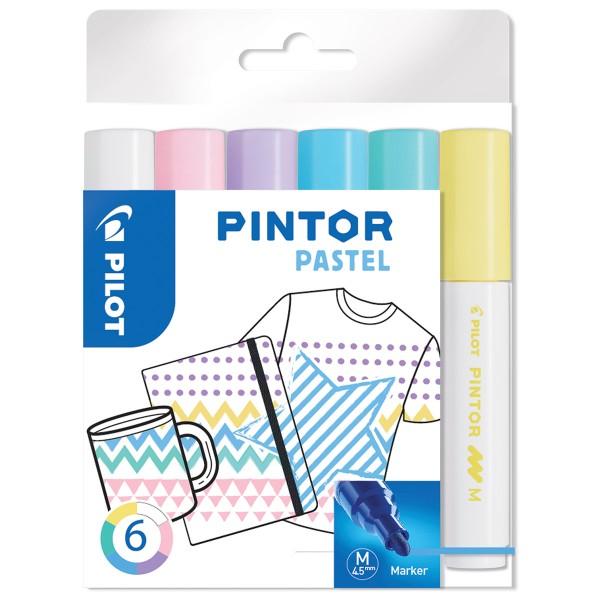 Assortiment de Feutres Pintor - Pointe Moyenne - Pastel Mix - 6 pcs - Photo n°1