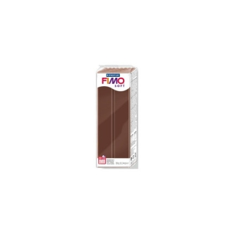Pain Fimo Soft Chocolat Marron 350g