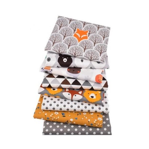 8 coupons tissu patchwork coton couture 40 x 50 cm ENFANT - Photo n°1