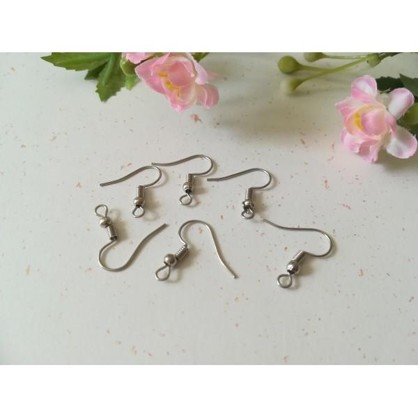 Crochets d'oreilles argent mat 18 mm x 50 - Photo n°2