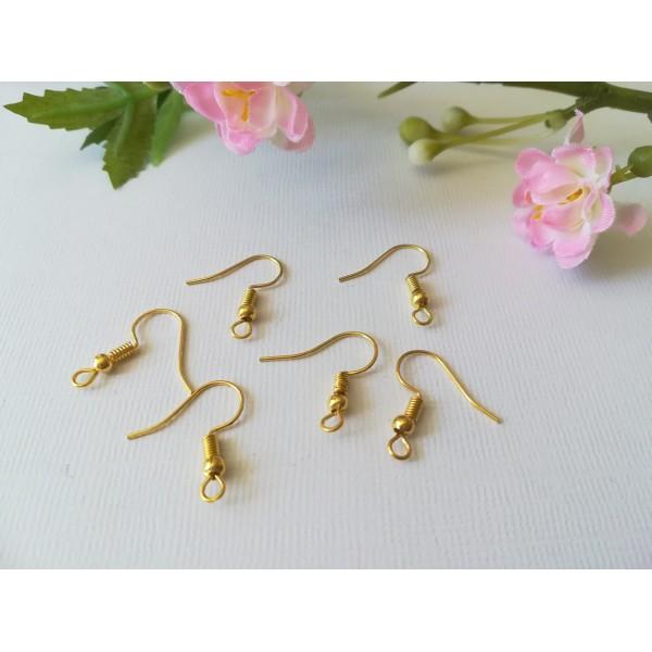 Crochets d'oreilles doré 18 mm x 50 - Photo n°2