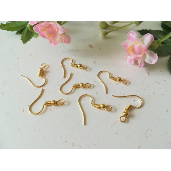 Crochets d'oreilles doré 18 mm x 50 - Photo n°1