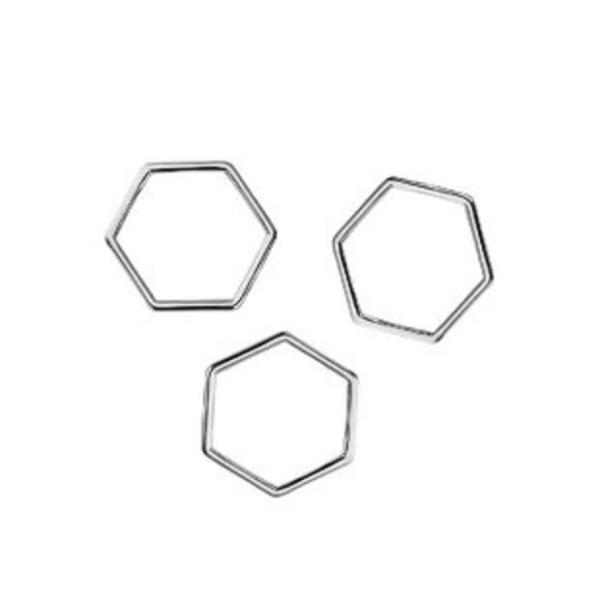 Connecteurs octogonal 10 mm argent mat x 10 - Photo n°1