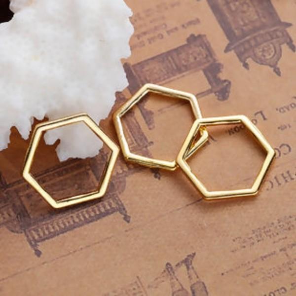 Connecteurs octogonal 17 x 15 mm doré x 10 - Photo n°1