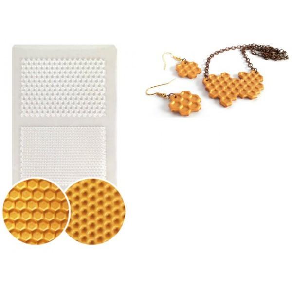 Plaque De Texture Nids D'abeille 210x148mm Pour Créations Fimo - Photo n°1