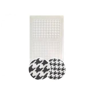 Plaque De Texture Pied-de-poule 210x148mm Pour Créations Fimo