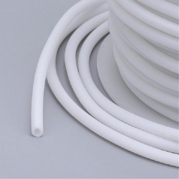 Cordon buna creux caoutchouc 2 mm blanc x 1 m - Photo n°2